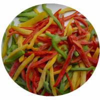 Iqf Frozen 3 Color Pepper Strips Blend Frozen Mixed Vegetables Pepper